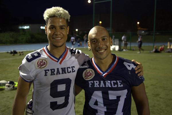Nelson Tsimi et Paul David aux IFAF European Championships
