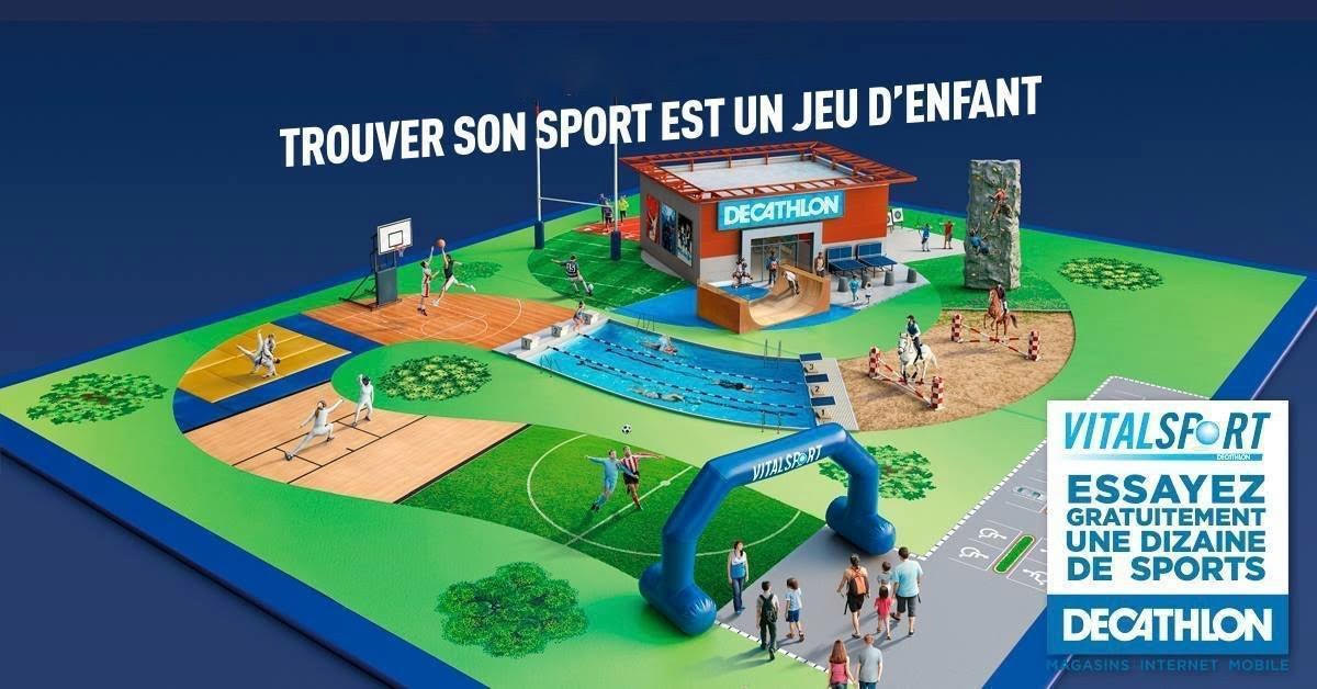 Illustration du Vitalsport, journée d'initiation au sport par Decathlon